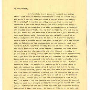 Typed letter [carbon] from Alexander Trocchi to George Plimpton, April 15, 1966