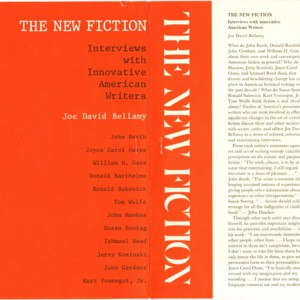 <em>The New Fiction: Interviews with Innovative American Writers</em> prospectus and book order form, 1975
