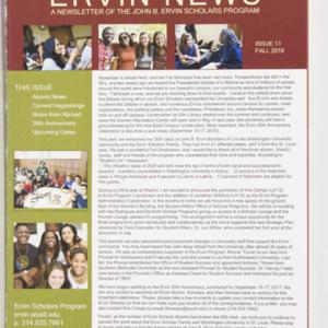 <em>Ervin News</em> A Newsletter of the John B. Ervin Scholars Program Issue 11
