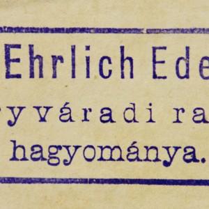 Bookstamp of Eduard Ehrlich