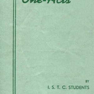 "Program for ""Original One-Acts by Iowa State Teachers College Students on May 23-23, 1941"""