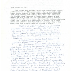 Autograph letter, signed from Mona Van Duyn to Donald Finkel, September 29, 1966