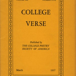<em>College Verse</em>, Volume 6, Number 5 (March 1937) by Tennessee Williams