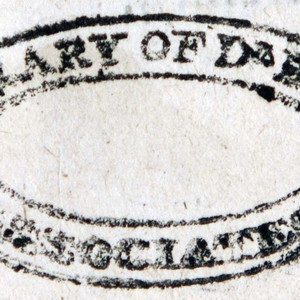 Bookstamp of the Associates of Dr. Bray Library