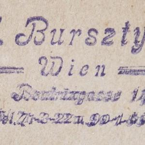 Bookstamp of J. (Josef) Bursztyn