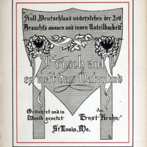 Frisch auf, es ruft das Vaterland / gedichtet und in Musik gesetzt von Ernst Krohn.