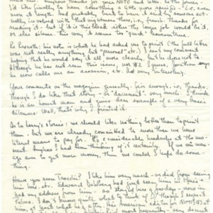Autograph letter, signed from Robert Creeley to Cid Corman, November 14, 1954