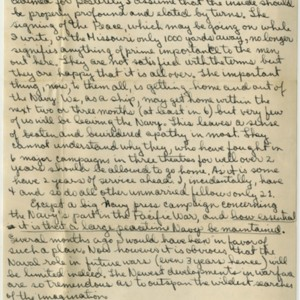 Autograph letter signed from William H. Gass to his parents, Mr. and Mrs. Gass, September 2, 1945