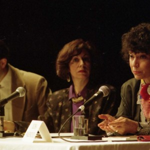 Robert Hegel, María Inés Lagos, and Luisa Valenzuela at the Writer in Politics Conference