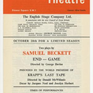 """<p class=""""p1""""><em>Endgame/Krapp&rsquo;s Last Tape </em>advertisement</p>"""