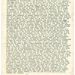 Typed letter, signed from James Merrill to Kimon Friar, September 14, 1946