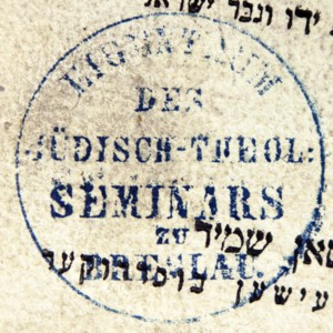 Bookstamp of the Jüdisch-Theologisches Seminar (Breslau, Germany)