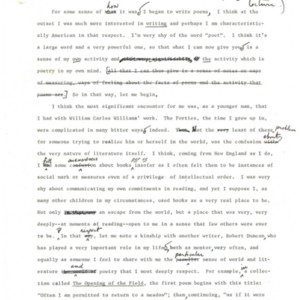 Robert Creeley's on the making of a poem and the nature of poetry