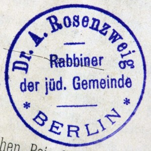 Bookstamp of Adolf Rosenzweig