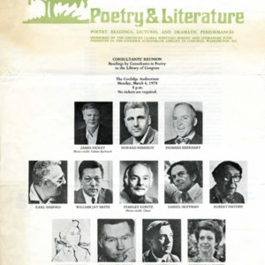 """Consultants' Reunion, Readings by Consultants in Poetry to the Library of Congress"""