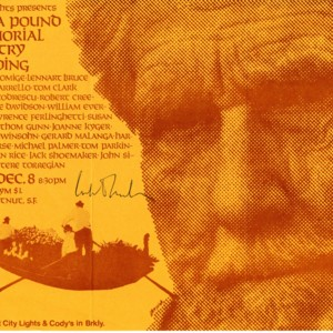 """City Lights Presents Ezra Pound Memorial Poetry Reading"""