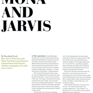 """Mona and Jarvis"" by Rosalind Early from <em>A&S Magazine</em>, Spring 2013"