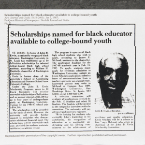 """Scholarships  named for black educator available to college-bound youth"""