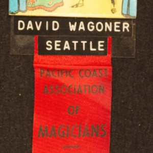 David Wagoner's Pacific Coast Association of Magicians name tag