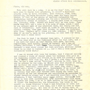 Typed letter, signed from James Wright to James Dickey, December 18, 1960