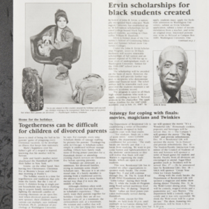 """Ervin scholarship for black students created"""