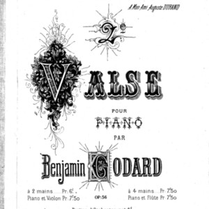 2ème valse ; op. 56 / Benjamin Godard; transcription pour piano et violon par A. Lefort.