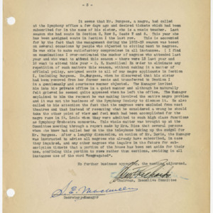 Minutes – Executive Committee Meeting - Thursday, October 18 [1923]
