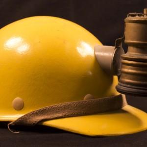 Donald Finkel's caving helmet