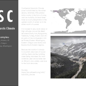 Continental subarctic climate