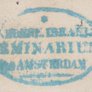 Bookstamp of Nederlandsch Israëlietisch Seminarium te Amsterdam