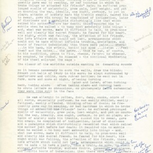 "Typed manuscript of ""Proust at 100"""