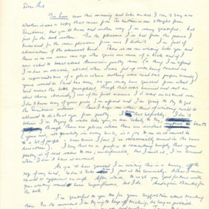 Autograph letter, signed from W.S. Merwin to Robert Creeley, April 19, 1962