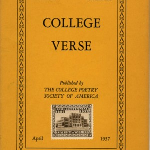 """Inheritors"" by Tennessee Williams from <em>College Verse</em>, Volume 6, Number 6 (April 1937)"