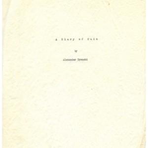 Typescript of <em>A Diary of Cain</em> by Alexander Trocchi