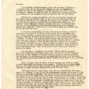 Typed letter, signed from Kimon Friar to James Merrill, November 16, 1945