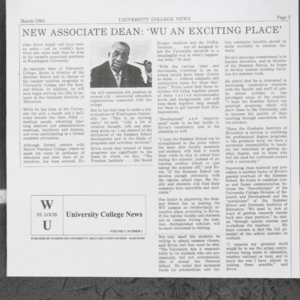 """New Associate Dean: 'WU An Exciting Place'"""