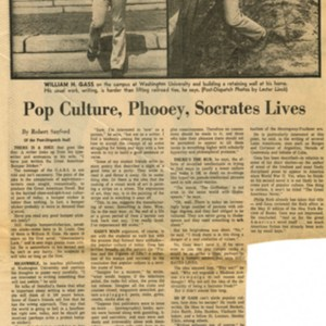 """Pop Culture, Phooey, Socrates Lives"" by Robert Sanford"