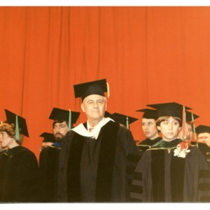 Howard Nemerov at a Washington University graduation.