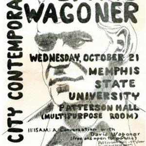"""River City Contemporary Writers Series: David Wagoner"""