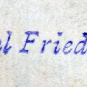 Bookstamp of M. (Michael) Friedländer