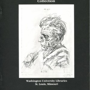 """The Samuel Beckett Collection at Washington University Libraries""complied by Sharon Bangert"