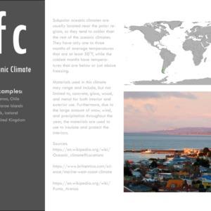 Subpolar oceanic climate