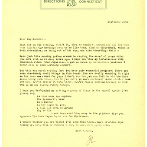 Typed letter, signed from James Laughlin to May Swenson