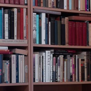 William H. Gass's bookshelves