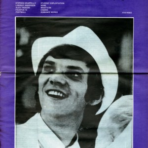 """Alexander Trocchi"" by Jim Campbell from <em>GUM</em> (<em>Glasgow University Magazine</em>), October 1973."