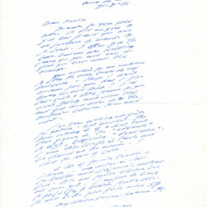 Autograph letter, signed from Samuel Beckett to Henry Wenning, August 21, 1966