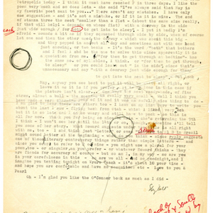 Typed letter, signed from Elizabeth Bishop to May Swenson, July 5, 1965