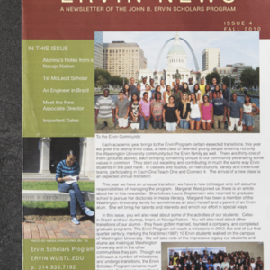 <em>Ervin News&nbsp;</em>A Newsletter of the John B. Ervin Scholars Program Issue 4