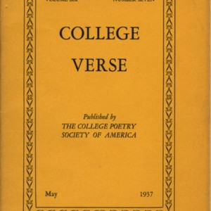"""Sacre de Printemps"" by Tennessee Williams from <em>College Verse</em>, Volume 6, Number 7 (May 1937)"