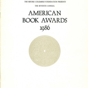 Program for the 1986 Annual American Book Awards sponsored by the Before Coumbus Foundation